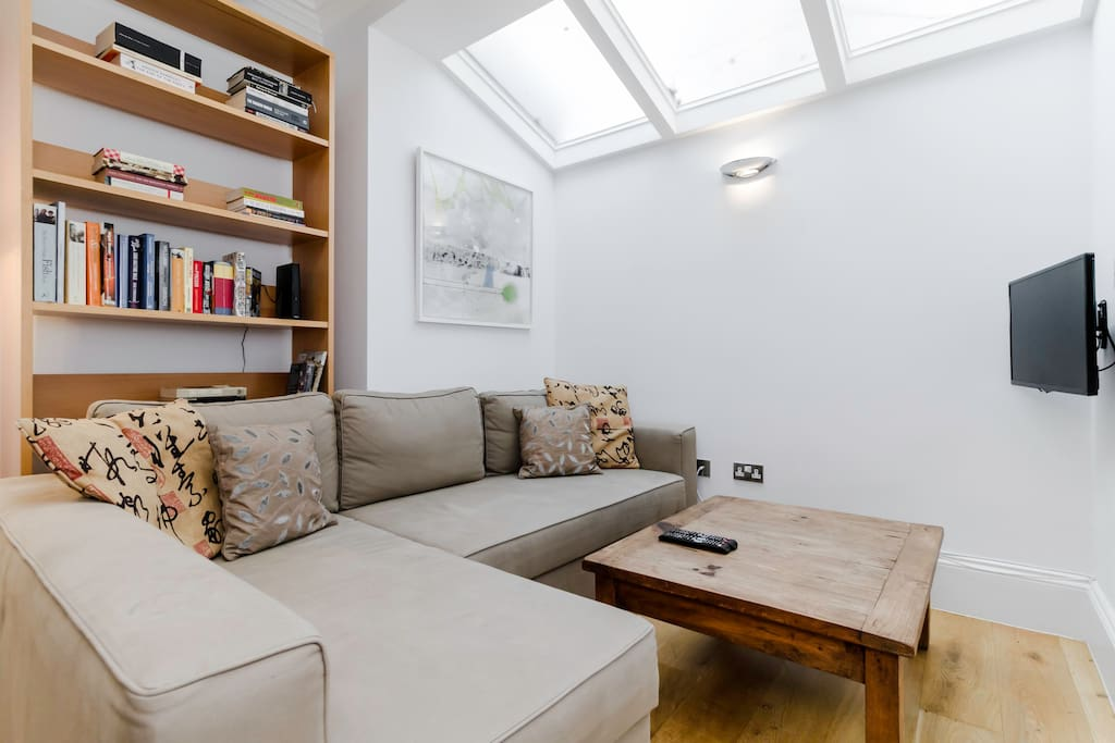 Relax in the comfortable sofa-bed and watch some TV or read a book