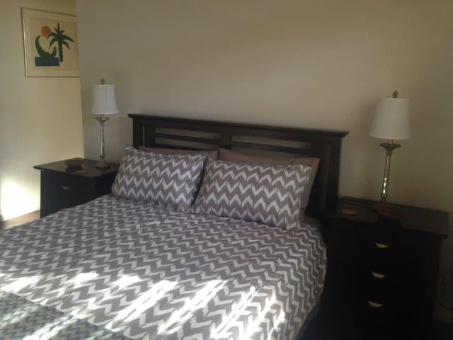 Bed 1 :  comfortable queen bed; ensuite.