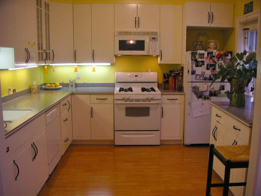 Guests have full use of the well-stocked kitchen.