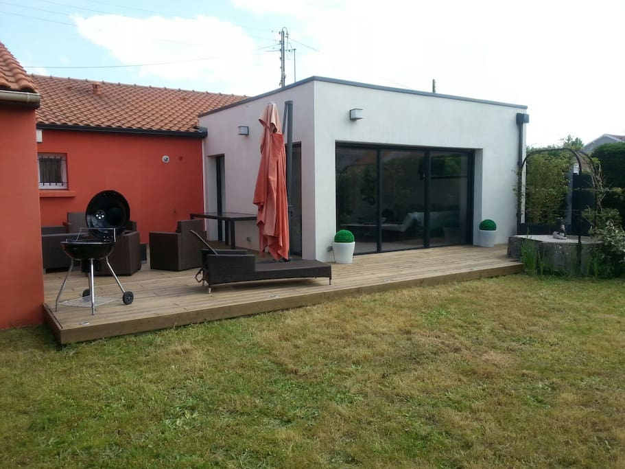 Maison avec son extension 100m2 case in affitto a for Extension maison 10m2