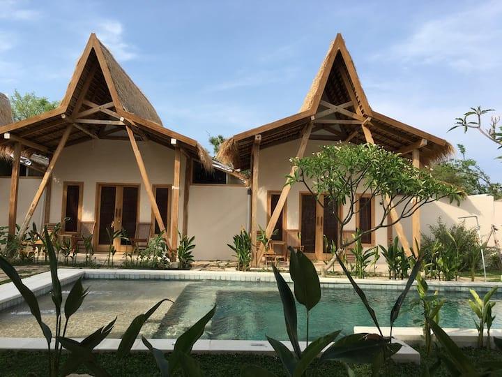 Kalyssa Beach bungalows 2 & 3 for Family or Group