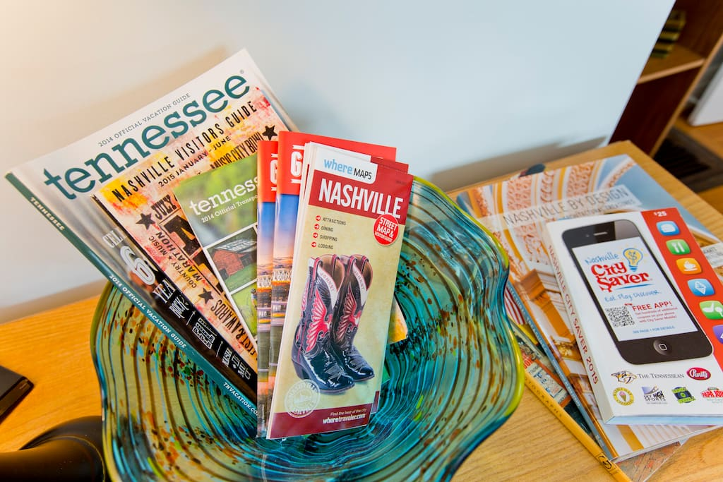 An assortment of maps and guidebooks are in the room for your use, and always feel free to ask us questions.