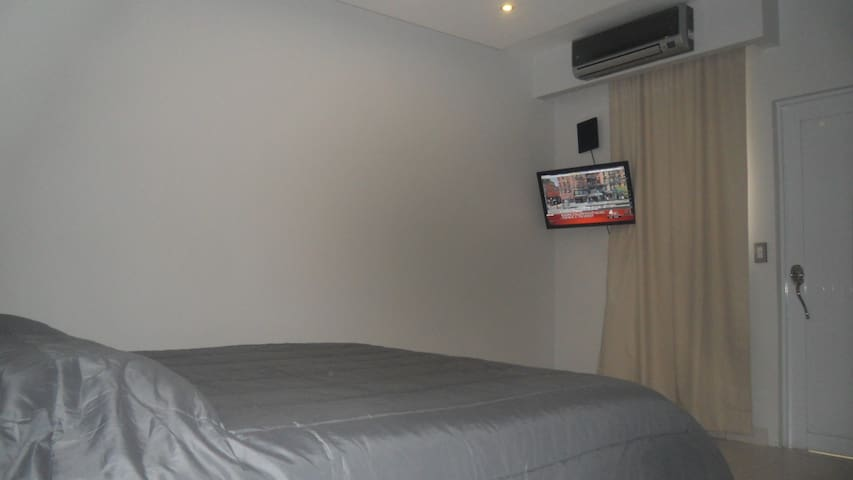 32 inch TV, quite a/c wall unit