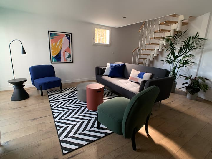 Newly-renovated apartment in the center of Bidart