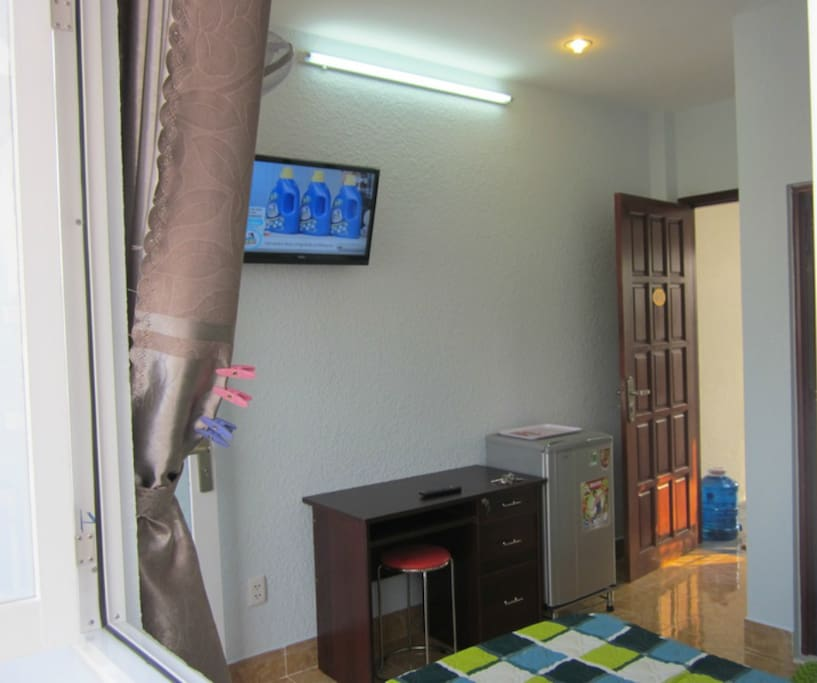 Room 401 - Location 4 (w/ Private bathroom and next to the roof terrace) - this location is in a local day-market alley