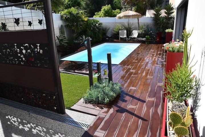 Villa 140 M² calme avec piscine plages à proximité