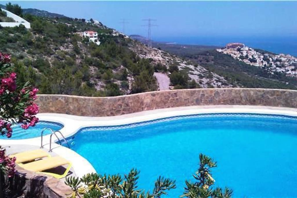 Fantastic views across sea while swimming in large private pool
