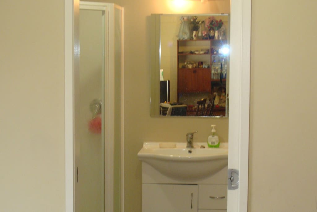 This is a picture of our guest bathroom.