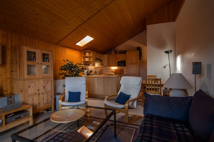 Lovely apartment in mountain chalet - Champoussin - Hytte (i sveitsisk stil)