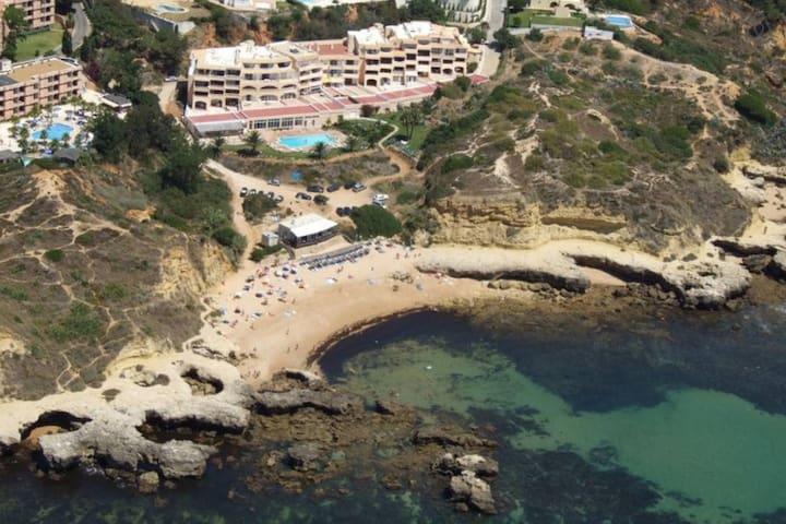 Seafront top studio  swimming pool