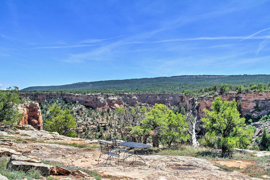 'Earth Ship' offers gorgeous canyon views from this remote, off-grid property.