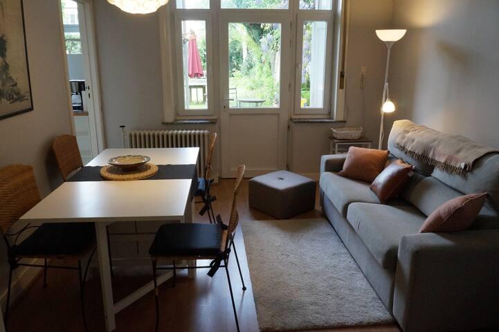 Appart 80m² au rdc avec gd  jardin - Uccle
