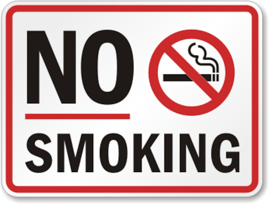 Our Home is strictly NO Smoking IN or OUT.