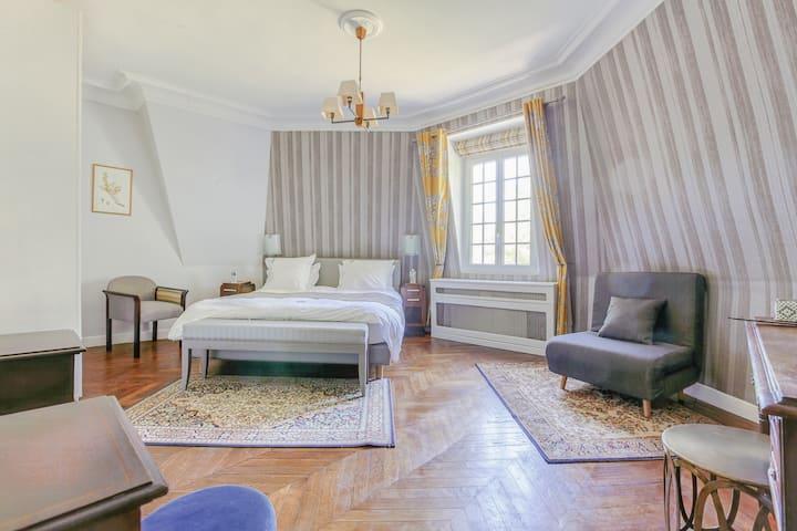 Chambre Luxueuse dans Château sur vaste domaine