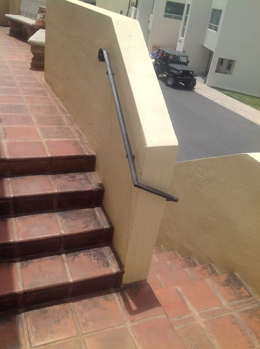 Stairs from street