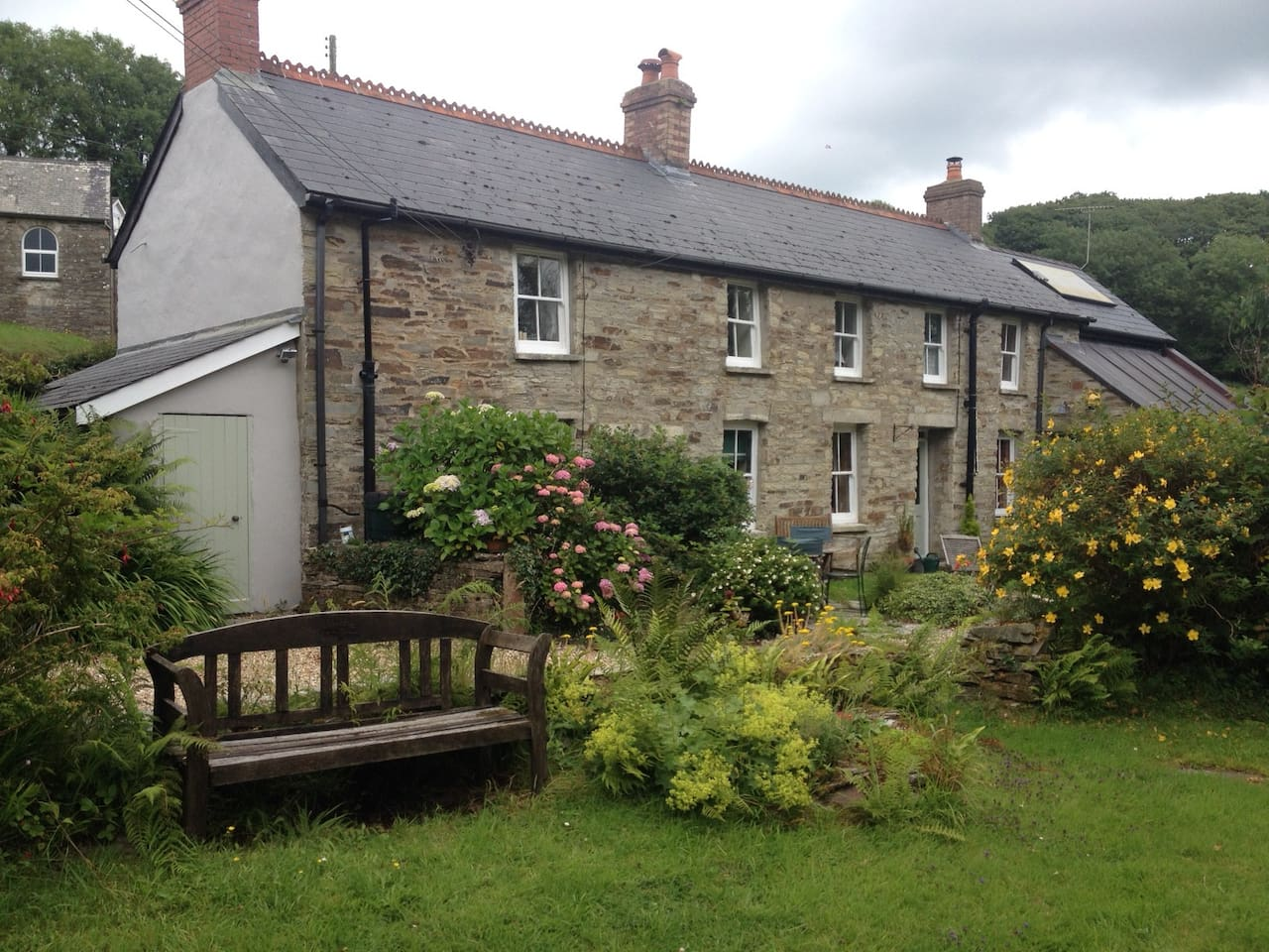 Two quarry worker's cottages in the foothills of the Preseli hills