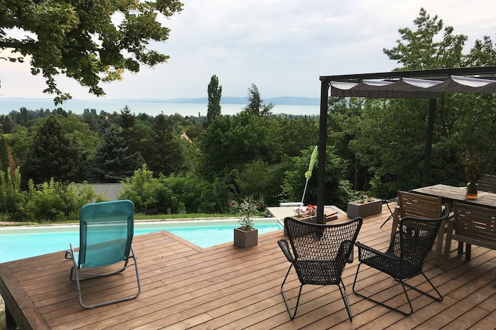 Balaton Villa Home with View and  private Pool