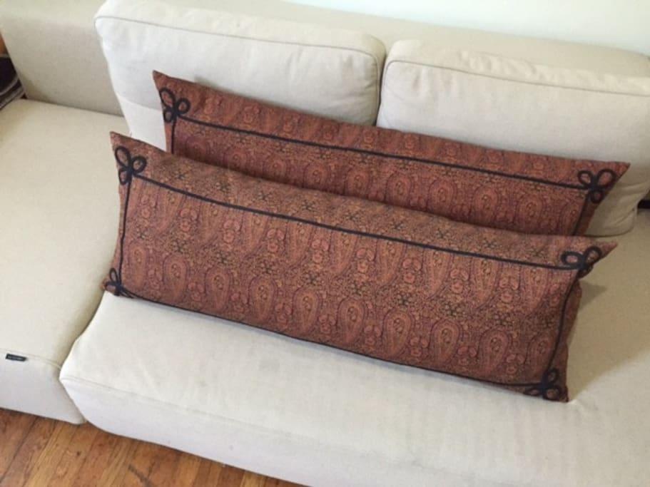Danish Sofa, Indo-Tibetan pillows