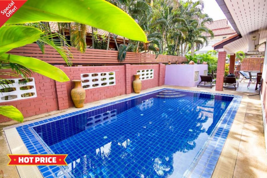 4 bedroom villa with private swimming pool.