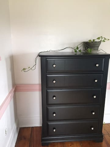 A full sized dresser is available for use in your room.