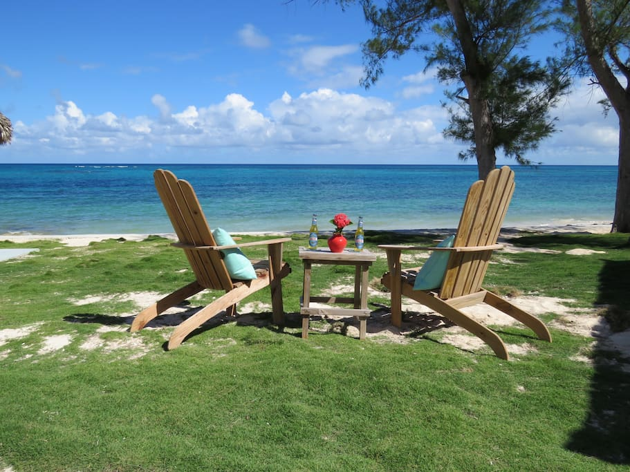 Sip an ice cold drink and relax on your own private beach