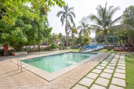 Pushp Vatika: Pool, Lawns, Games & King Rooms