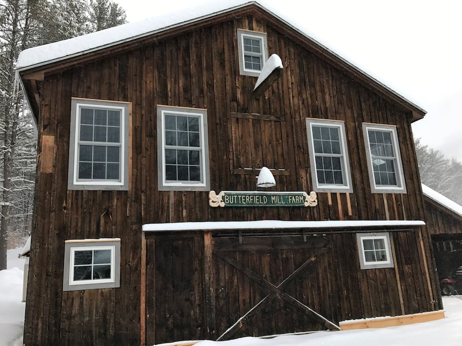 Our guest suite is on the top floor of our renovated barn.