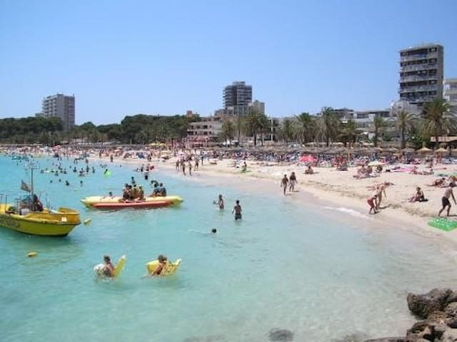 Magalluf beachfront 1 x 4 people - Magaluf - Pis