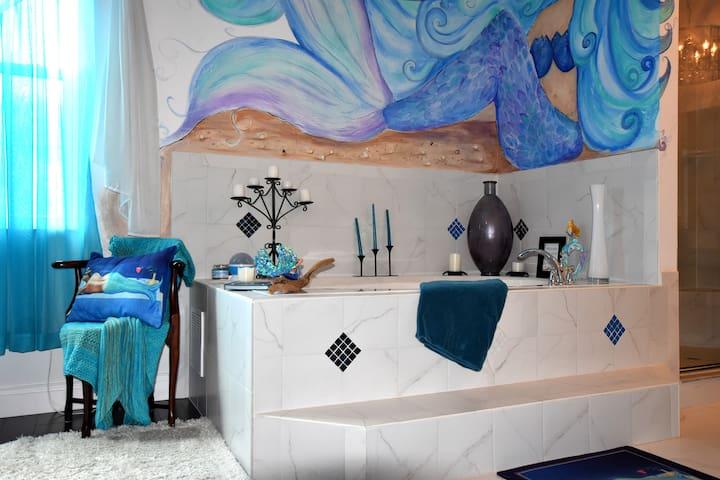 Mermaid bath tub...relax and dream of the sea...