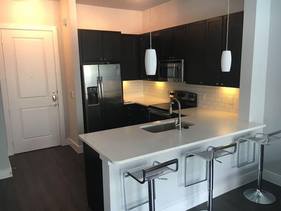 Modern stylish kitchen setup