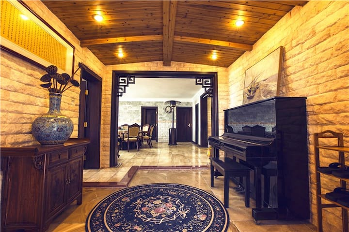 临海精装 附300平私家庭院垂钓烧烤独享 - Qingdao - Lägenhet