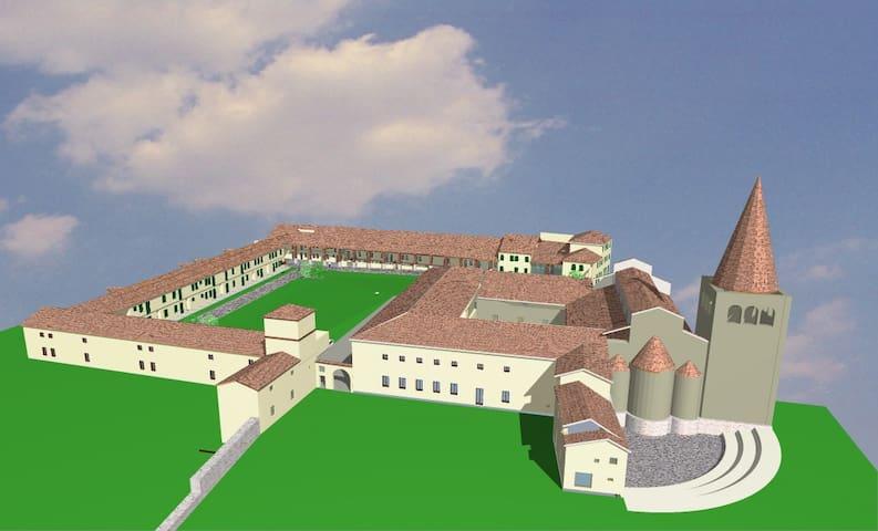 Corte dell' Abbazzia del 1131  - San Bonifacio - Daire