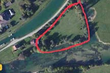 Vue aérienne du parc .