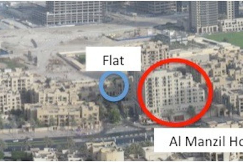 Location of the flat  In Middel of Down Town Dubai