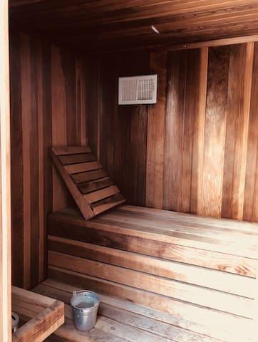 Outside sauna