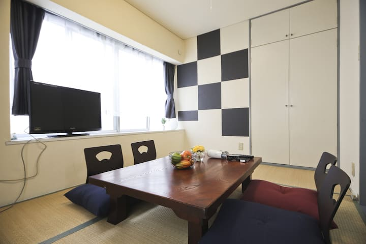 5mins to SHINJUKU & NAKANO! Up to 7 people w/ WiFi - Nakano-ku - Apartment