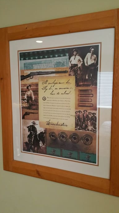 Winchester poster series decorates the unit