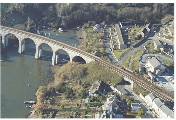 Cornish side of the Tamar Bridge  - Saltash
