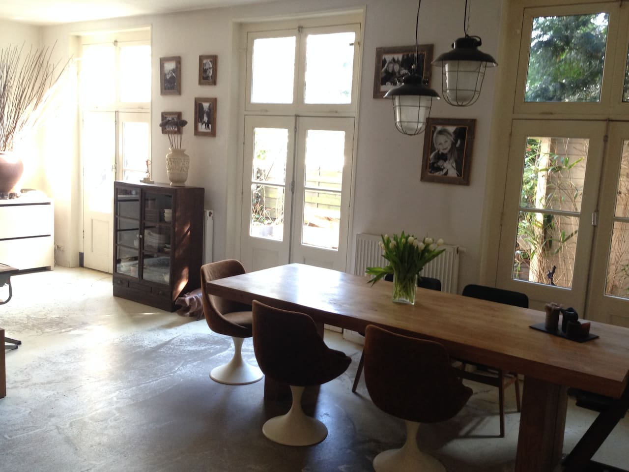 Spacious living room at the ground floor