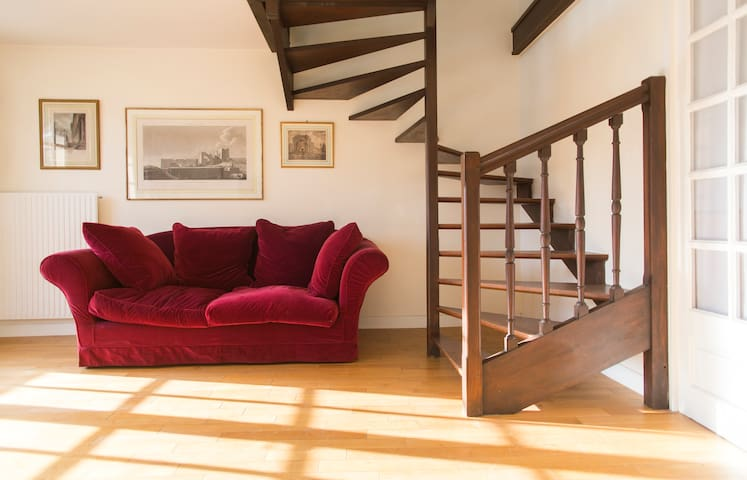 Located in the city center with private parking