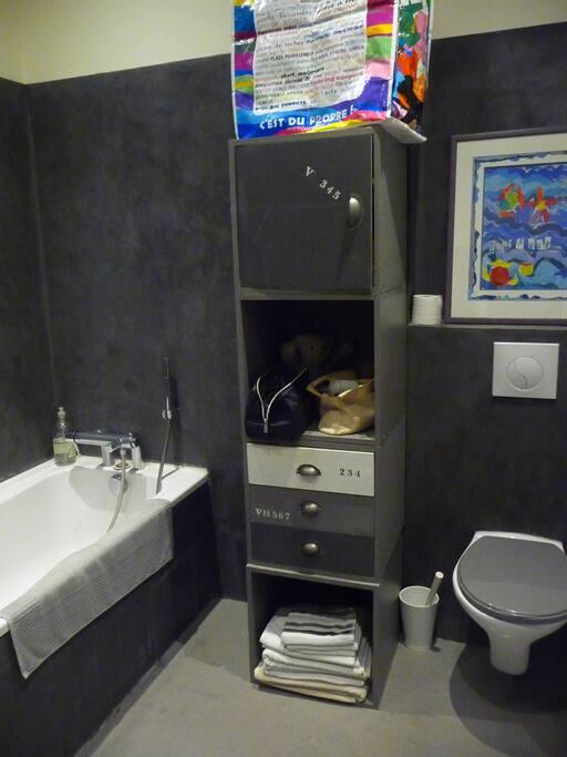 salle de bain avec wc privatifs