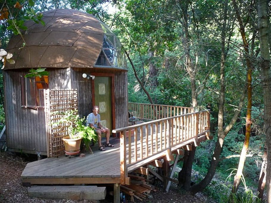 tree house decks mushroom dome cabin 1 on airbnb in the world cabins for rent