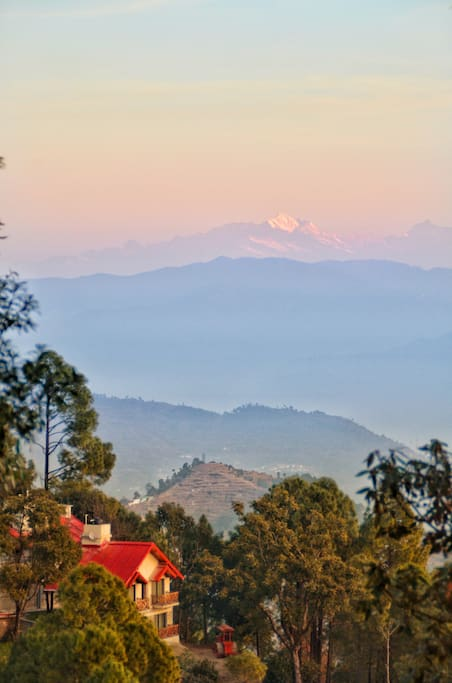 Himalayas as seen from property