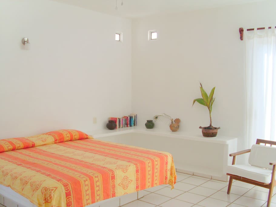 Spacious bedroom with king size bed, internet and cable tv.