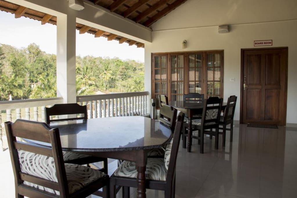 Sitting area in the veranda