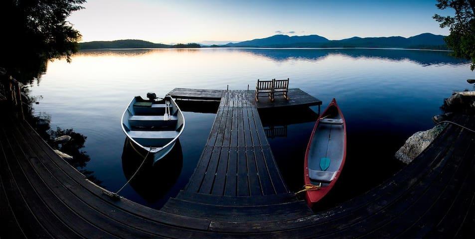 Remote Middle Saranac Lake Cabin