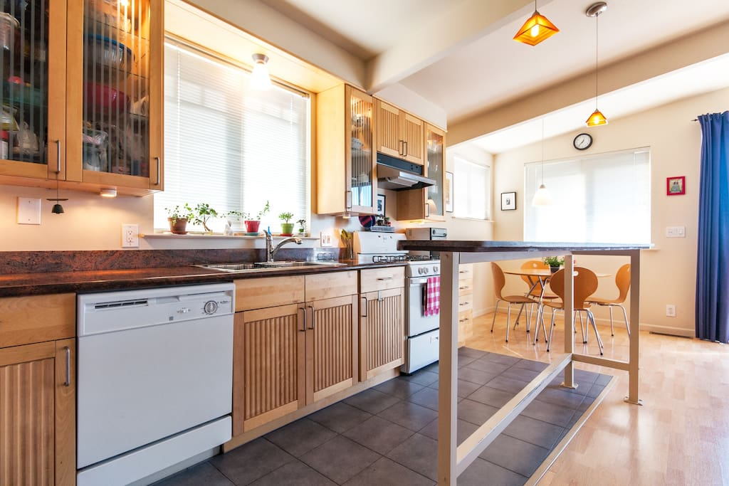 Modern fully equipped kitchen.