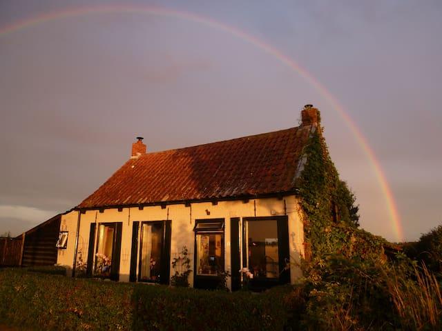 Nieuw; landelijk dijkhuis, Zeeland - Waterlandkerkje - Hus