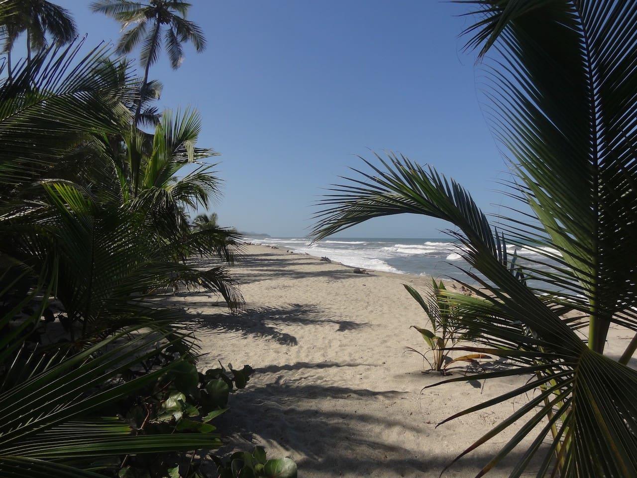 Playa en el mar caribe.