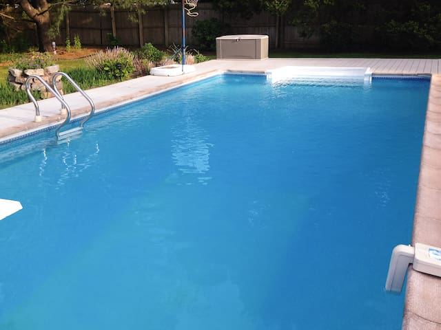 The deck was recently refinished and the pool equipment was refurbished.